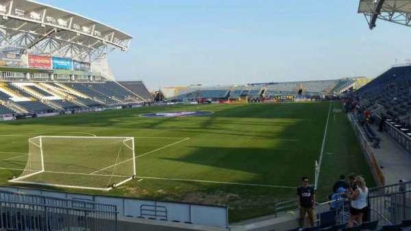 Talen Energy Stadium, secção: 114, fila: L, lugar: 14