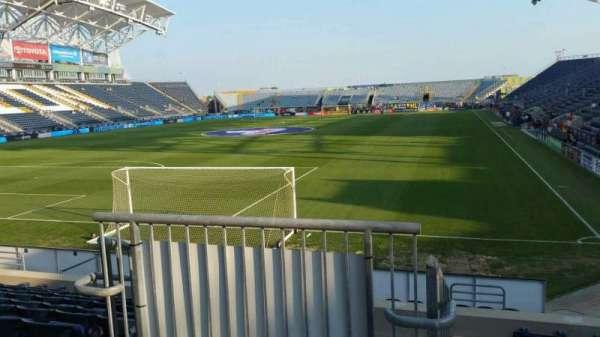 Talen Energy Stadium, secção: 114, fila: L, lugar: 26
