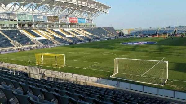 Talen Energy Stadium, secção: 115, fila: R, lugar: 1