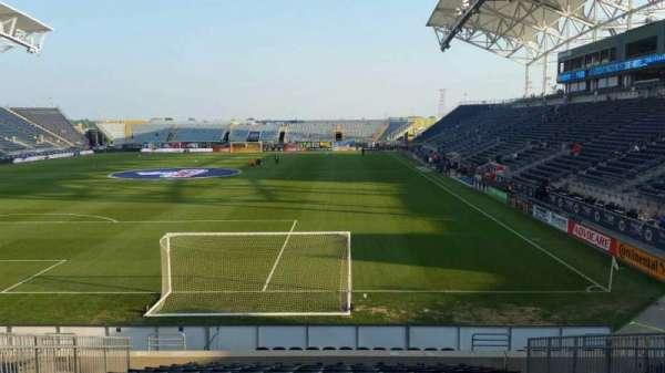 Talen Energy Stadium, secção: 115, fila: R, lugar: 10