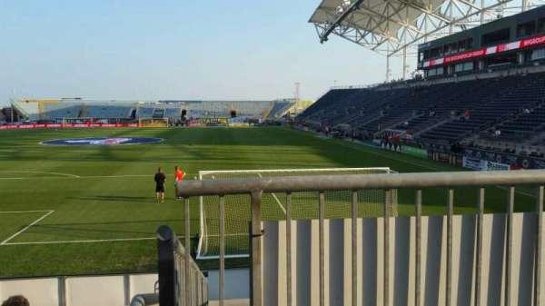 Talen Energy Stadium, secção: 116, fila: K, lugar: 1