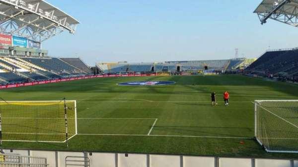 Talen Energy Stadium, secção: 116, fila: K, lugar: 11