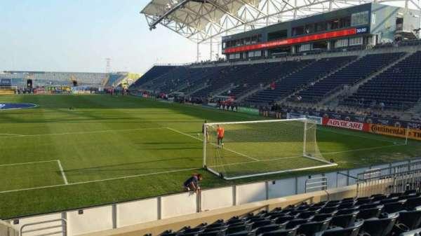 Talen Energy Stadium, secção: 116, fila: K, lugar: 20