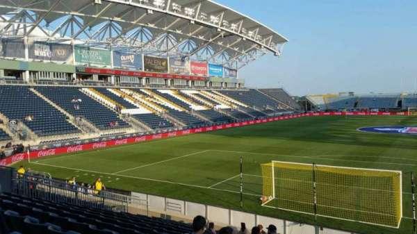 Talen Energy Stadium, secção: 117, fila: K, lugar: 1