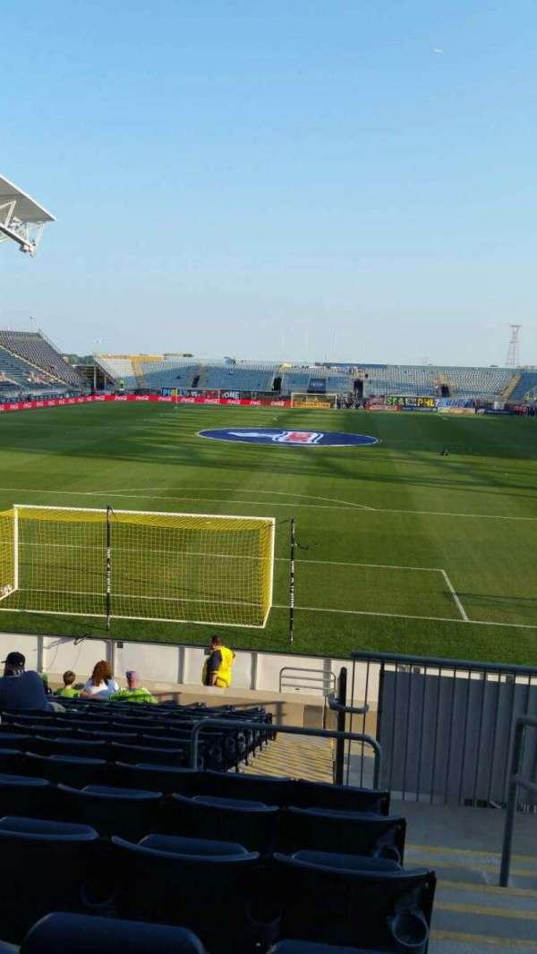 Talen Energy Stadium, secção: 117, fila: Q, lugar: 1