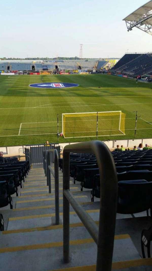 Talen Energy Stadium, secção: 118, fila: W, lugar: 1