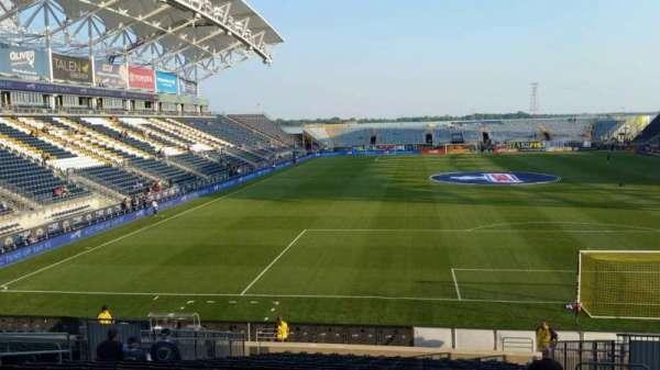 Talen Energy Stadium, secção: 118, fila: W, lugar: 10
