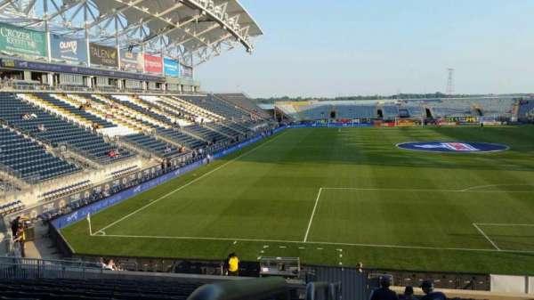 Talen Energy Stadium, secção: 118, fila: W, lugar: 23