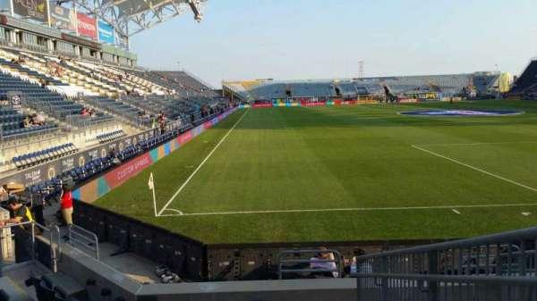 Talen Energy Stadium, secção: 120, fila: H, lugar: 1
