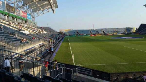 Talen Energy Stadium, secção: 120, fila: H, lugar: 10