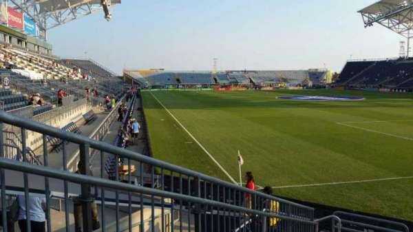Talen Energy Stadium, secção: 120, fila: H, lugar: 18
