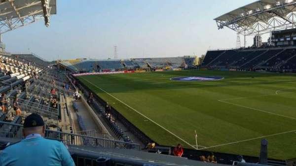 Talen Energy Stadium, secção: 121, fila: R, lugar: 1