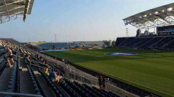 Talen Energy Stadium, secção: 121, fila: R, lugar: 21
