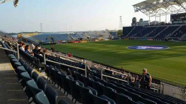 Talen Energy Stadium, secção: 123, fila: V, lugar: 10