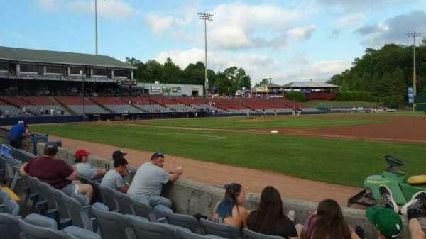 Dodd Stadium, secção: 3, fila: A, lugar: 1
