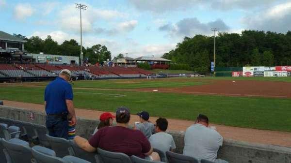 Dodd Stadium, secção: 3, fila: A, lugar: 7