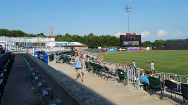 Ripken Stadium, secção: 210, fila: A, lugar: 1