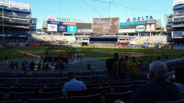 Yankee Stadium, secção: 119, fila: 8, lugar: 7