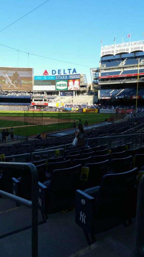 Yankee Stadium, secção: 119, fila: 8, lugar: 1