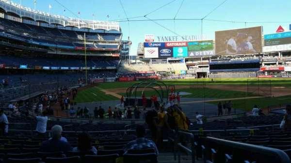 Yankee Stadium, secção: 119, fila: 11, lugar: 1