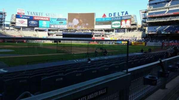 Yankee Stadium, secção: 117B, fila: 1, lugar: 1