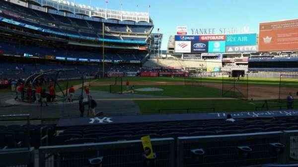 Yankee Stadium, secção: 117A, fila: 3, lugar: 16