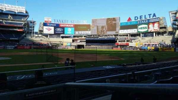 Yankee Stadium, secção: 117A, fila: 3, lugar: 1