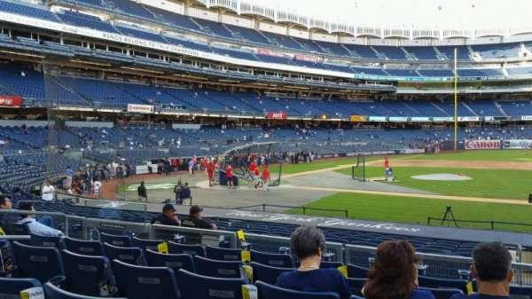 Yankee Stadium, secção: 116, fila: 6, lugar: 10