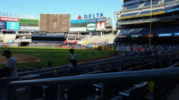Yankee Stadium, secção: 116, fila: 6, lugar: 1
