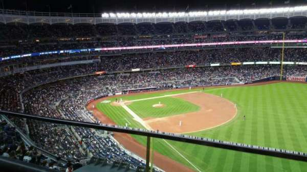 Yankee Stadium, secção: 409, fila: 1, lugar: 10