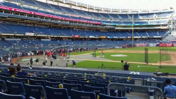Yankee Stadium, secção: 116, fila: 8, lugar: 1