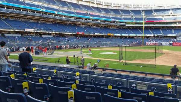 Yankee Stadium, secção: 115, fila: 6, lugar: 1