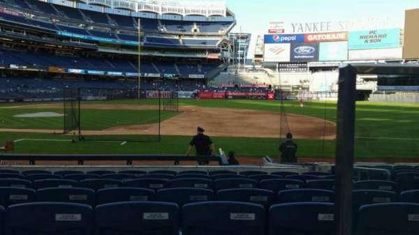 Yankee Stadium, secção: 115, fila: 1, lugar: 1