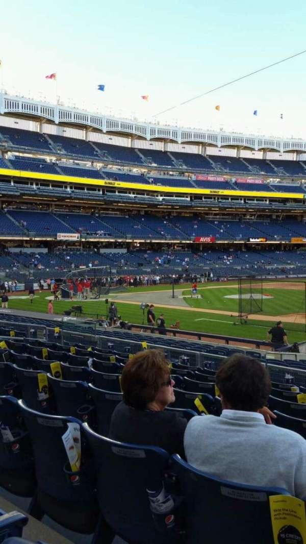 Yankee Stadium, secção: 114B, fila: 8, lugar: 1