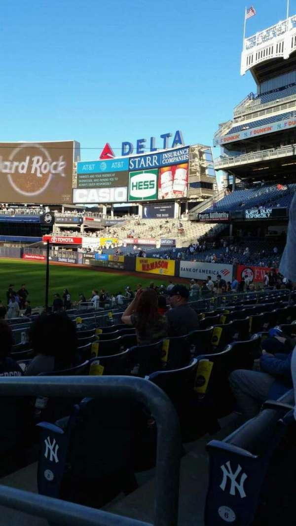 Yankee Stadium, secção: 113, fila: 7, lugar: 1