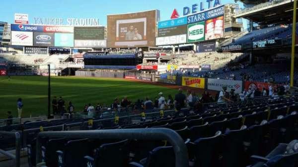 Yankee Stadium, secção: 112, fila: 7, lugar: 1