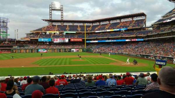 Citizens Bank Park, secção: 130, fila: 21, lugar: 10