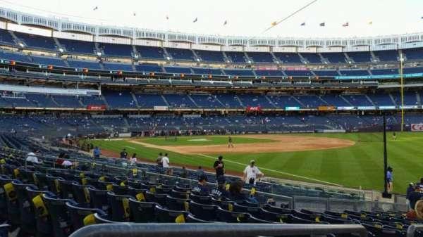 Yankee Stadium, secção: 110, fila: 17, lugar: 15