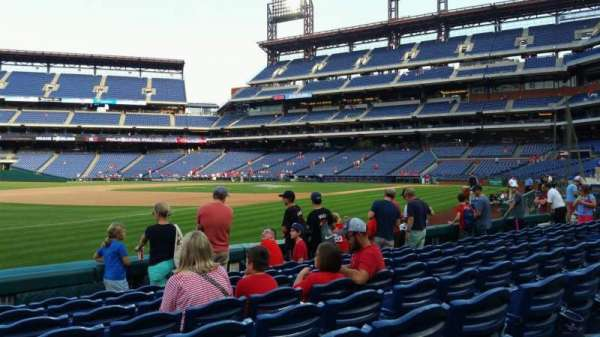 Citizens Bank Park, secção: 135, fila: 8, lugar: 15