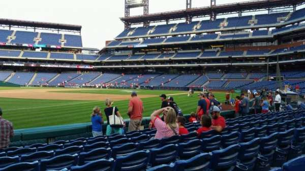 Citizens Bank Park, secção: 135, fila: 8, lugar: 18