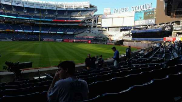 Yankee Stadium, secção: 107, fila: 9, lugar: 15