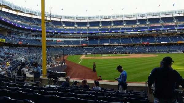 Yankee Stadium, secção: 107, fila: 9, lugar: 1