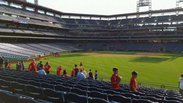 Citizens Bank Park, secção: 103, fila: 13, lugar: 1