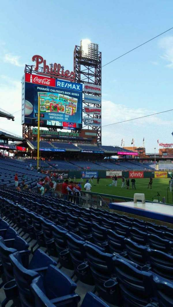 Citizens Bank Park, secção: 131, fila: 7, lugar: 1