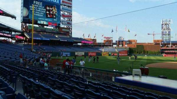 Citizens Bank Park, secção: 131, fila: 7, lugar: 9