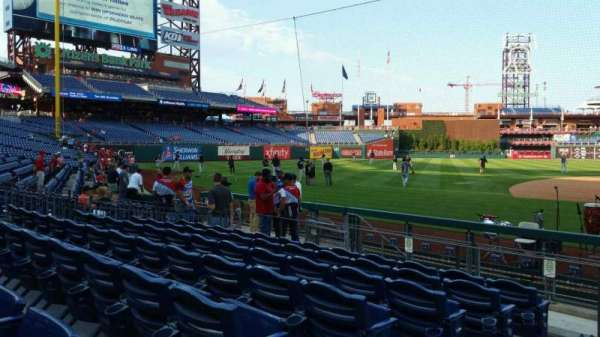 Citizens Bank Park, secção: 131, fila: 7, lugar: 18
