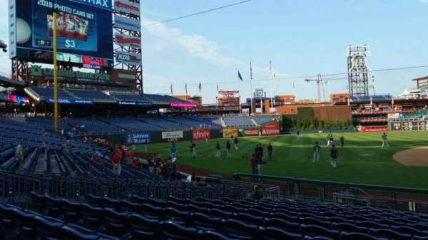 Citizens Bank Park, secção: 132, fila: 13, lugar: 1