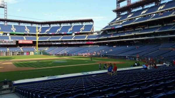 Citizens Bank Park, secção: 132, fila: 19, lugar: 1