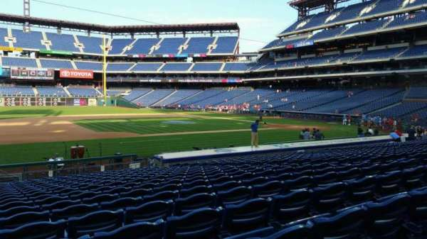 Citizens Bank Park, secção: 132, fila: 19, lugar: 13