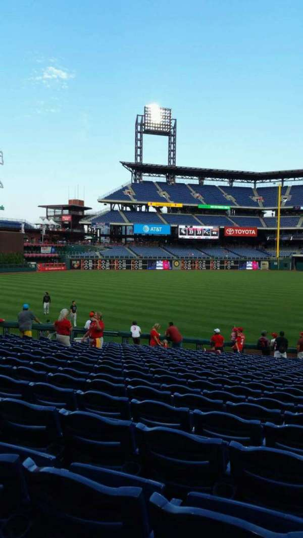 Citizens Bank Park, secção: 138, fila: 26, lugar: 1